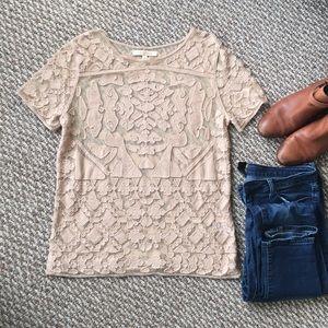 Everleigh crochet top in tan